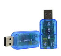 Wholesale Portable External USB Sound Card Audio Adapter Mic Speaker Audio Interface For Laptop PC Micro Data