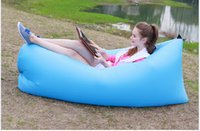 beach style furniture - popular style Inflatable Sofa Bed Portable Travel Camping Outdoor Folding Sofa Hangout Beach Chair Lazy Bag Furniture