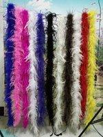 al por mayor al por mayor de la boa de avestruz-Venta al por mayor un 2m / lot natural de plumas de avestruz boa 3 capas de muchos colores accesorios de vestir etapa de rendimiento decoración diy