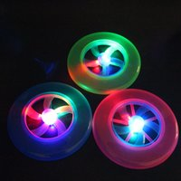 Wholesale The new flash disc Beach square luminescent frisbee toys Flash a flying saucer Rotating flywheels toys