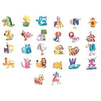 abc of lot - ABC English Learning Educational Toys A Z Cute Letters of the Alphabet Animal Shaped D Jigsaw Puzzles Kids Toys VB915 P