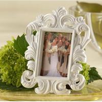 achat en gros de noir cadre photo livraison gratuite-12 * 9cm en résine noire et blanche cadre photo baroque / cadres porte-carte élégant place ou cadre photo mariage favor DHL Livraison gratuite