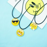 Wholesale Japan yellow smiley smile acrylic Bracelet New Custom fashion fine Bracelet good warm chains useful