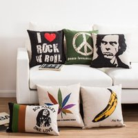 art fighter - Classic Simple Music album art nick cave cotton linen cushions The Doors Sonic Youth Street Fighter Floyd decorative throw pillows for sofa