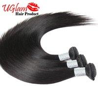 Straight Cheap Human Hair Weave Top Grainte Cheveux brésiliens 3 pcs / lot 8-30 pouces 100% Uglam Hair Products