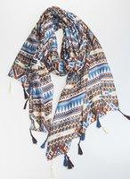 achat en gros de châle persian-Pashmina Shawl Fashion Femme Wraps Persan Lady Foulard Plaid Coton Coton Coton Extra Large 100 * 180 cm