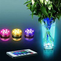 Wholesale Multi Color Submersible LED RGB Light Party Vase Underwater Waterproof Remote Control Lamp