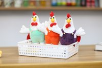 Wholesale 2017 new hot kelanwei Chicken in the mascot The gentleman chicken Company annual gift Purple orange green