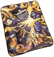 Wholesale floral prints carpeting Multi function TARDIS Doctor Who Blankets Coral Fleece starry night Carpet Throw Blankets Bed sheet