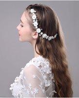 Wholesale 2016 Bridal Hair Accessories Tiaras Hair Pins Lady s flower Fascinators Bridal Wedding Flower Headband Hair Clip Pins