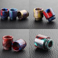 Cheap Hottest TFV8 TFV12 Epoxy Resin drip tip Resin Wide Bore drip tips with Retail Box for TFV8 Big Baby Tfv12 Tank Atomizers