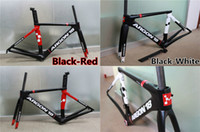 Wholesale Black Red Black White models Argon carbon bike frames with T1100 UD BB86 Argon road bike carbon frameset