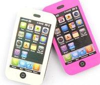 Vente en gros-Livraison gratuite 10pcs / lot Creative Cute Mobile Phone en forme de caoutchouc Pencil Eraser Étudiants Papeterie Gift Toy Prize