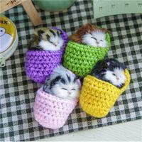 Купить Котенок игрушки-Оптово-10x6cm Симпатичные тапочки Котенок с Cat Voice игрушки Плюшевые