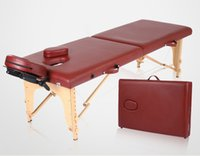 Wholesale One Piece Salon SPA Folding Massage Table Bed PU Leather Adjustable Portable Facial Therapy Massage Bed Wooden Bed