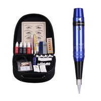 Wholesale professional Permanent Makeup pen machine Kit color eyebrow tattoo set PCD lip repair protect