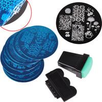 Wholesale 10Pcs Nail Plates Stamper Scraper Set Nail Art Stamping Template Image Plates Nail Stamp Plate Manicure Tools ZA1642