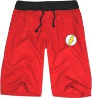 al por mayor pantalones cortos de bart-Venta al por mayor-Liga de la justicia popular Jay Garrick Barry Allen Wally West Bart Allen medio corto El traje de superhéroe flash casual corto