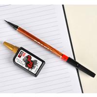Wholesale New Calligraphy Brush Pen Sketch Fineliner Penmanship Brush Marker with Refill Ink Set Sketch Drawing Brush Marker