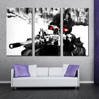 aim art - 3 Picture Combination Wall Art Painting Sniper Aim Military Pictures Prints On Canvas Military The Picture For Home Modern Decor