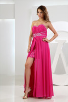 asymmetrical homecoming dresses - 2016 Pink Prom Dress Sweetheart Sexy Off Shoulder Crystals Beaded High Low Rhinestones Chiffon Homecoming Party Gowns