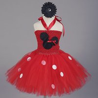 baby frocks - Girl s Dresses baby girl princess tutu minnie mouse costume kids christmas frock red Tulle Ball Gown girls pageant dress children clothing
