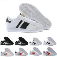 Wholesale Cheap White Casual Shoes - 2017 Cheap Online Wholesale Superstar Shoes Running Classic Mens Women Superstars Sneakers Skateboarding Casual Shoes Size:36-45