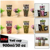 Wholesale New Camouflage YETI oz Cups Cooler Colors Stainless Steel Rambler Tumbler Cup Car Vehicle Beer Mugs Vacuum Insulated