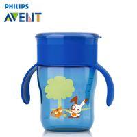 avent bpa bottle - AVENT ml Cute PP Drinking Cup BPA Free Children Learn Feeding Handle Bottle Cartoon Kids Mamadeira High Quality Garrafa