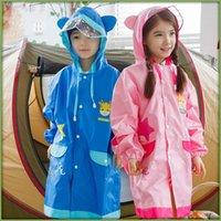 Wholesale Korea KK Tree Children Raincoat For Boy Girl Breathable poncho Children Take Bag Outdoor Student Raincoat