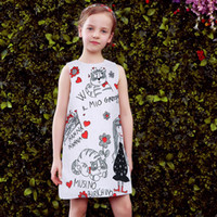 american dress designers - Girls Dresses Spring Summer Designer Princess Dress For Girls Fashional Print Kids Dresses for Girls Clothes