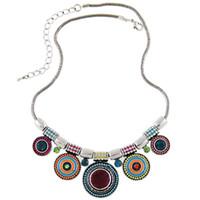 Nouveau Choker Collier Mode Collares ethniques Vintage Argent Plaqué Col De Couleur Perle Pendentif Collier Pour Les Femmes Bijoux