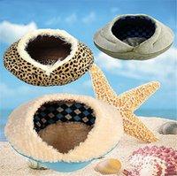 Wholesale Warm Conch Shape Luxury Washable Dog Pet Bed Detachable Cushion Dog Cat Beds Candy Dog House