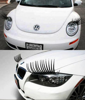 Wholesale New Brand Cool Fashion Auto D Car Eyelashes Car Logo Sticker Decal Accessories