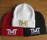 La letra TMT del bordado del algodón del invierno de la manera hizo punto el casquillo del sombrero para los sombreros Headwear de los sombreros del Knit de Hip-hop de la gorrita tejida de los hombres de las mujeres