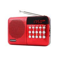 Wholesale Universal Home Stereo Speaker Mini Portable Radio TF Card Speaker FM Radio Digital Speaker with LED Screen Support TF Card Read