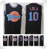 Wholesale Stitched Movie Space Jam Jersey Men Murray D Duck Bugs LOLA Embroidered Sport Hot sale Lepew Cheap Cartoon Christmas Gift HOT