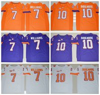 Wholesale Clemson Tigers Ben Boulware College Football Jersey Embroidery Logos Stitched Men Mike Williams Jerseys Uniforms