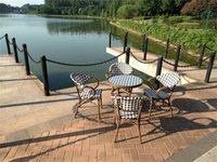 Wholesale Texline outdoor furniture tables and chairs five piece tea table Garden and restaurant furniture cafe tables and chairs suit