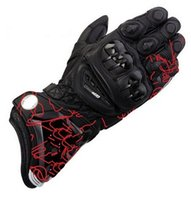 alpine pro - Model TOP New alpine GP PRO Motorcycle Gloves TOP Genuine Leather Motorbike Long Gloves MotoGP Road