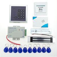 bells locked door - Door Lock Access Control system Kit KG Electric Magnetic Lock Power IC Keypad Door Bell Keycards