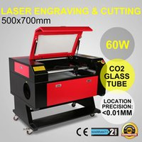 acrylic machine - 60W CO2 USB Laser Engraving Cutting Machine Engraver Cutter woodworking crafts acrylic fiber wood Engraving Machine