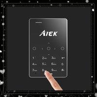 achat en gros de mini-sim double veille-5.8mm ultra mince AIEK M4 Mini carte de musique tactile de téléphone mobile 2G GSM Dual SIM en veille Cute Pocket enfants téléphones mobiles de cadeau de Noël