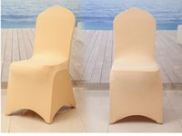 Wholesale 20 colors wedding chair covers hotel chair cover Universal spandex chair cover Christmas decoration furniture chairs covers