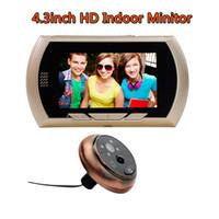 Wholesale eBELL Smart Digital Door Peephole Viewer With inch HD Indoor Monitor Has PIR Alarm Night Vision HD Doorbell Camera Wide Angle
