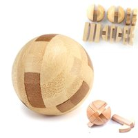 Wholesale Intelligence Luban Lock Wooden Brain Teaser Puzzle Educational Toy Magic Ball