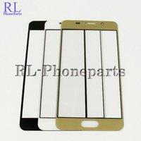 10pcs / lot devant verre LCD écran tactile extérieur écran tactile externe pour Samsung Galaxy A3 A5 A7 2015 A310 A510 A710 2016 Version + Logo