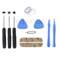 Wholesale 10 In Cell Phones Opening Pry Repair Tool Kit Screwdrivers Tools Set Kit For iPhone DHL Free