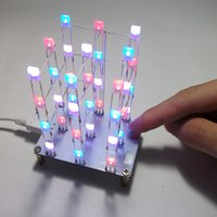 Wholesale DIY Electronic LED Display Kit Color LEDs Light Cube Sound Light Control