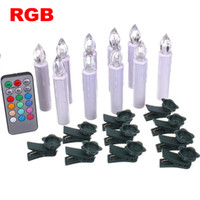 Wholesale Hot Sale Party Wedding Christmas Home Tree Decoration Colors RGB LED Candles Wireless Remote Control CE Certification